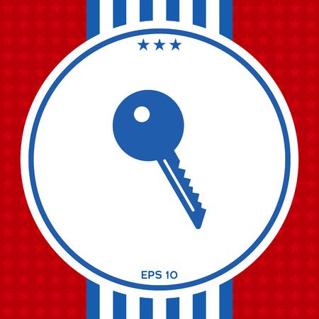 Key symbol icon illustration. Illustration