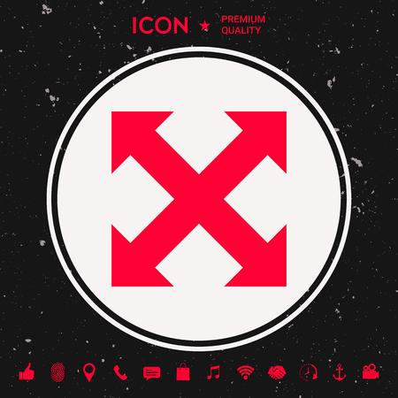 Extend, resize, enlarge icon. Element for your design Illustration