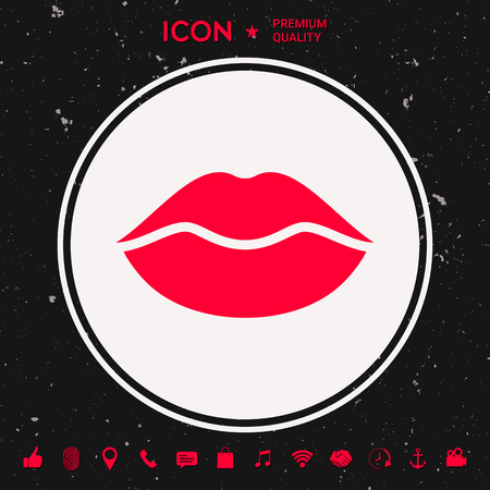 Lips icon Vector illustration. Graphic element for your design.