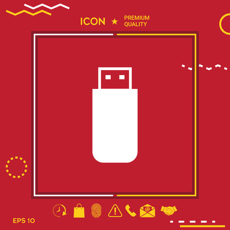 Storage device icon vector illustration