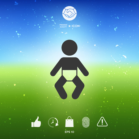Baby symbol icon. Element for your design