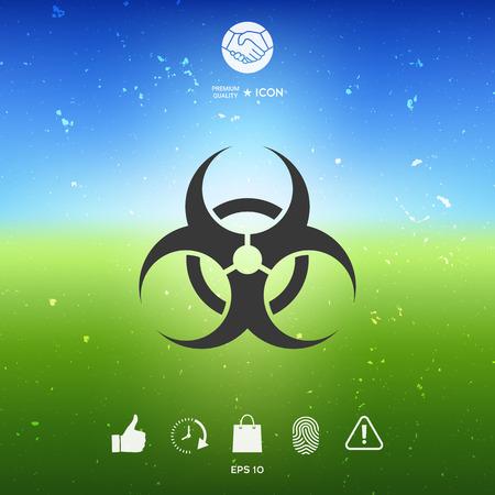 Biological hazard sign. Element for your design