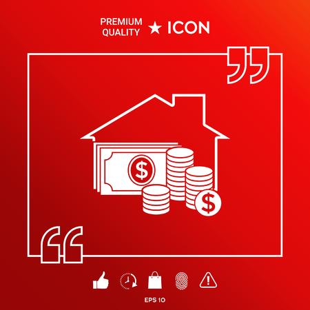 Home insurance icon Ilustrace