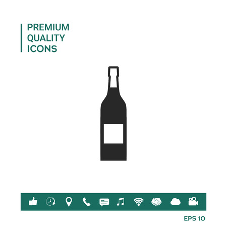 Graphic element of wine bottle for your design.