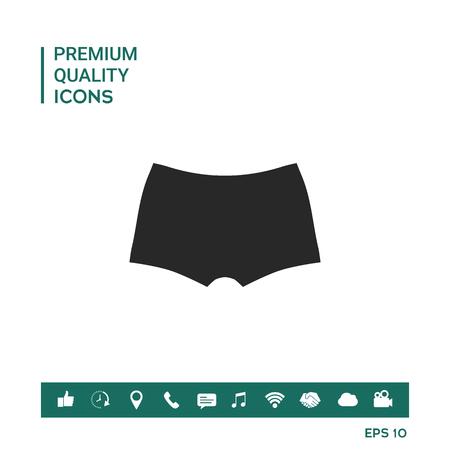 Icône de sous-vêtements Banque d'images - 94525166