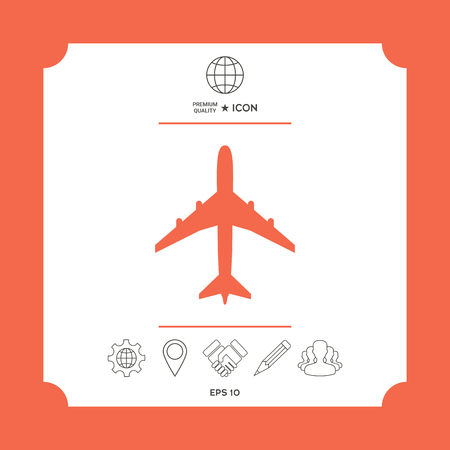 Airplane icon Ilustrace
