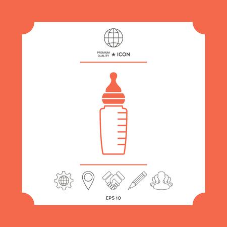 Baby feeding bottle icon Ilustrace