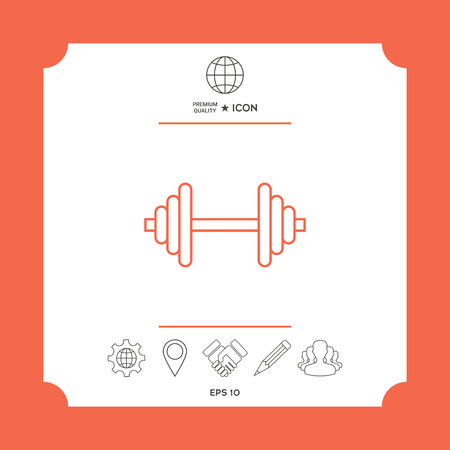 Barbell line icon Ilustrace