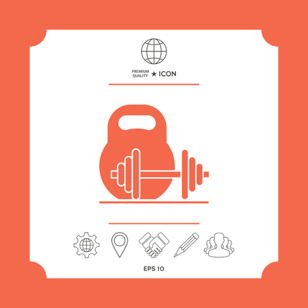 Icons with background of graphic elements for your design.