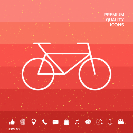 Bicycle line icon Illustration