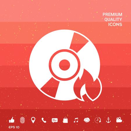 Burn CD or DVD icon
