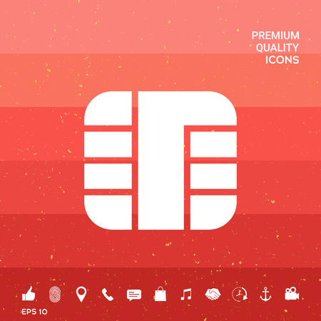 Chip of credit card icon