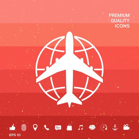 Earth and Airplane logo