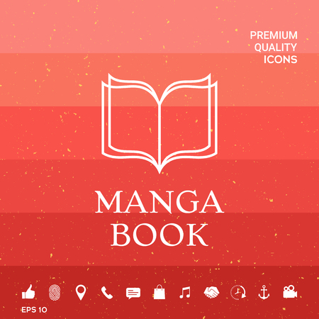 Elegant logo with book symbol with pages