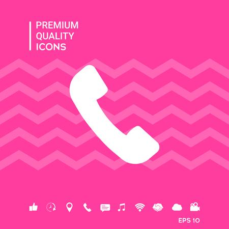 Telephone handset symbol, telephone receiver icon