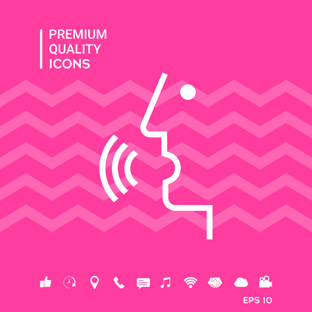 Voice control, person talking - icon