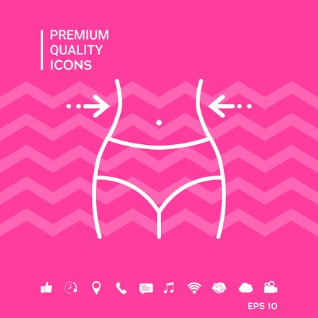 Women waist.waistline - line icon