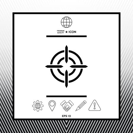 Aim icon symbol