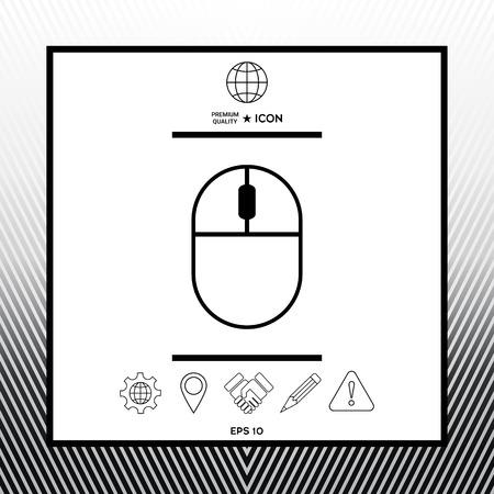 Computer mouse symbol icon