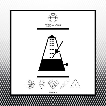 Metronome symbol icon Stock Illustratie