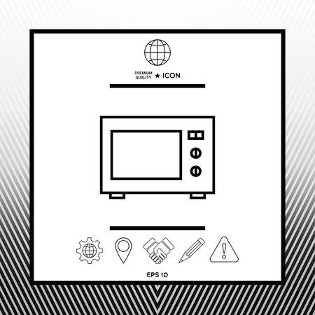 Microwave Oven linear icon Ilustração