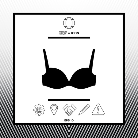 Sings, symbols with bra - graphic elements for your design