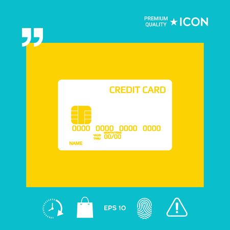 Credit card icon Stock Illustratie
