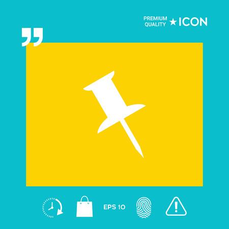 Drawing pin icon  イラスト・ベクター素材
