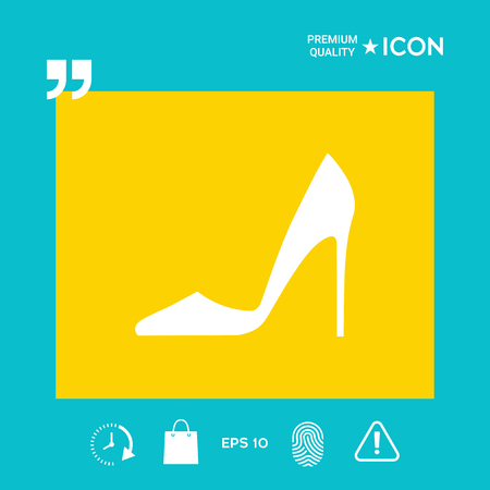Elegant women shoe, design graphic illustration vector