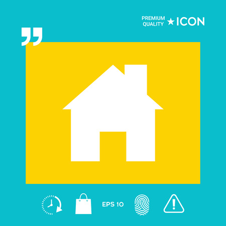 Home symbol icon, design graphic illustration vector Ilustrace
