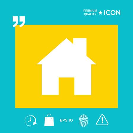 Home symbol icon, design graphic illustration vector Illustration
