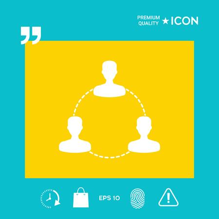 Human connection symbol, icon, design graphic illustration vector