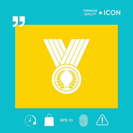 Award medal - graphic elements for your design Vettoriali