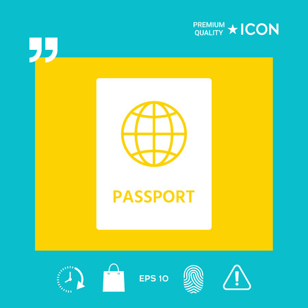 Passport identity - graphic elements for your design