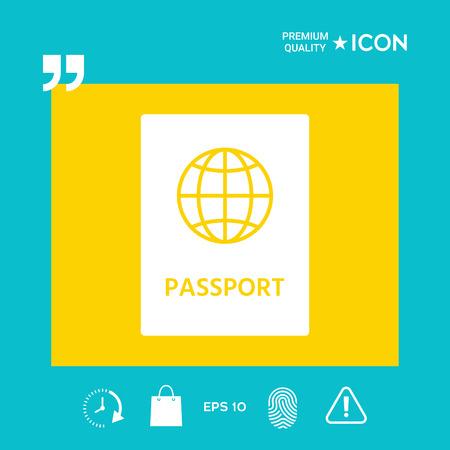 pasaporte de identidad - elementos gráficos para su diseño