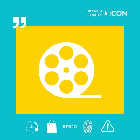 Documentary filmstrip - graphic elements for your design