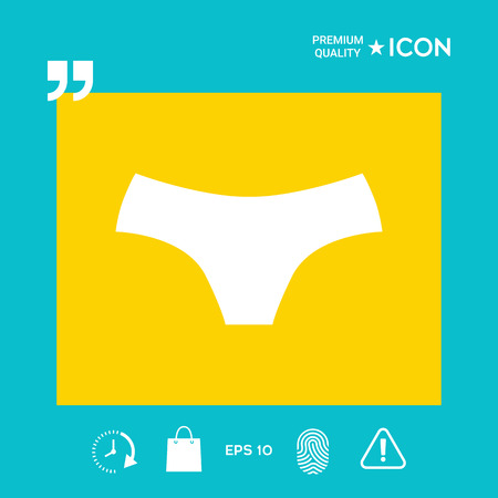 Women panties - graphic elements for your design Illustration