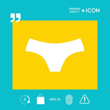 Women panties - graphic elements for your design Illusztráció