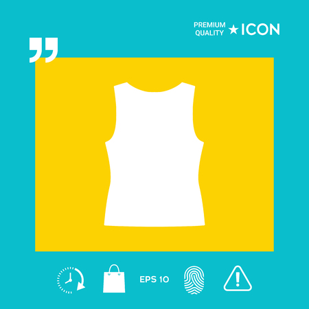Women tanktop - graphic elements for your design Illustration