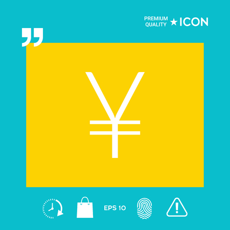 Yen symbol icon 일러스트