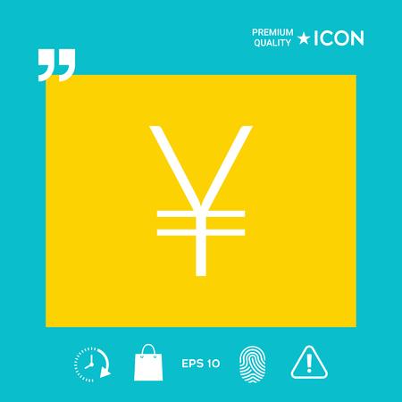 Yen symbol icon Illustration