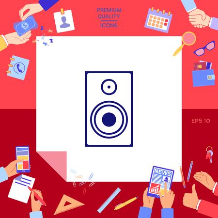 Audio speaker icon Illustration