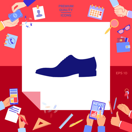 Men's shoe icon  Vector illustration. Illustration