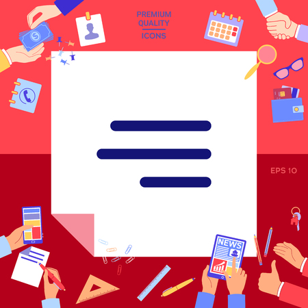 Modern hamburger menu icon Vector illustration.  イラスト・ベクター素材