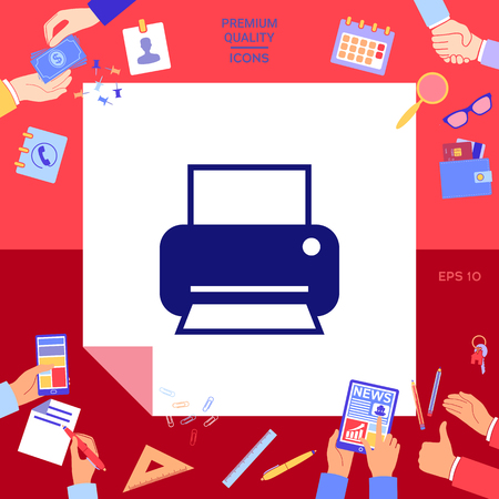 Print icon for web Vector illustration.