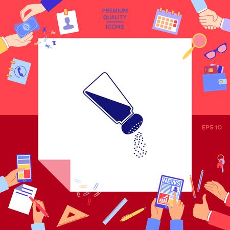 Salt or pepper shaker Vector illustration.