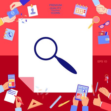 Search symbol icon Vector illustration.