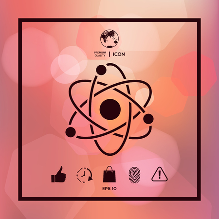Atom symbol - science icon