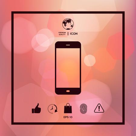 Business Phone with blank screen Illusztráció