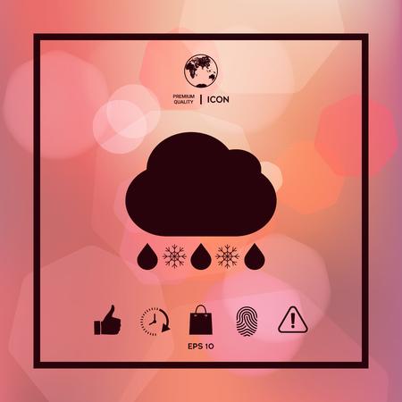 Cloud rain snow icon
